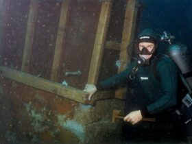 Ladjedelnica Mali Lošinj – podvodna sanacija stebra priveza doka 1