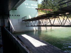 Viseči odri in plavajoči pontoni